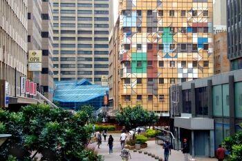 Interesting building in Fox Street, downtown Johannesburg, Gauteng